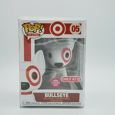 Funko Pop! Red Collar Flocked Bullseye Target Exclusive Ad icon PREORDER!