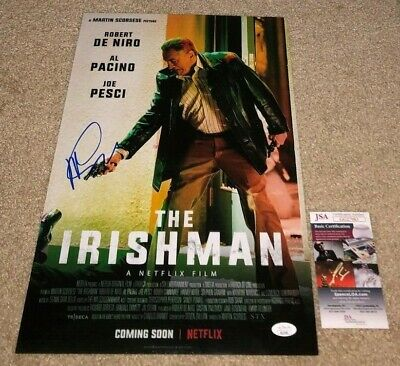 Director Martin Scorsese Signed The Irishman 12X18 Movie Poster Photo Casino Jsa