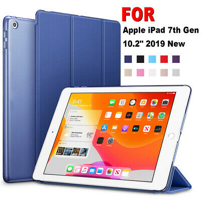 """For Apple iPad 10.2"""" 2019 (7th Generation) Leather Smart Case Flip Stand Cover"""