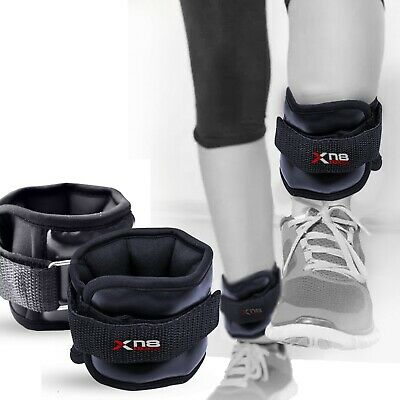 XN8 Leather Ankle Weights Leg Wrist Strap Running Exercise Gym Fitness Workout