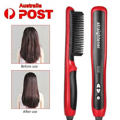Mens Beard Curling Straightener Brush Hair Comb Straightening Show Quick 2019New
