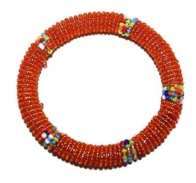 African Maasai Masai Beaded Bracelet Bangle - Kenya Jewelry #24