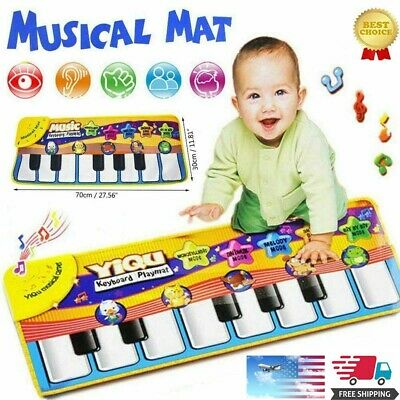 Newest Musical Music Kid Piano Play Baby Mat Animal Educational Soft Kick Toy US