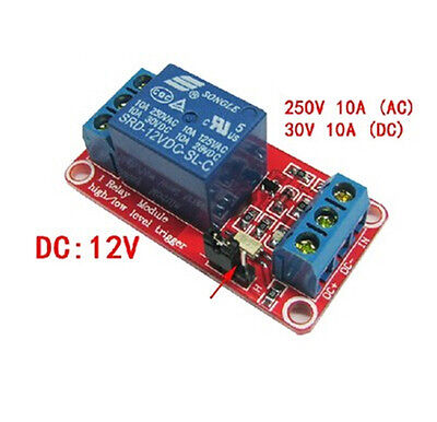 Reliable 12V 1 channel relay module optocoupler High and low level trigger JR