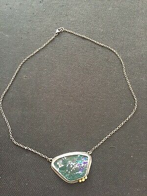 Unique Antique Bespoke Roman Glass & Sterling Silver Pendant 2000+ Years Old