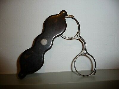 Antique Georgian / Victorian fording Spectacles / Lorgnettes .Incomplete /damage