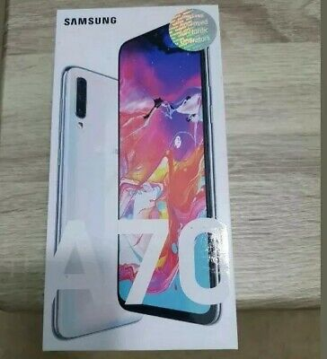 SAMSUNG GALAXY SM-A70 128GB 2019 4G LTE White UNLOCKED PHONE Dual Sim New boxed