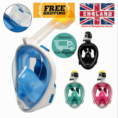 Diving Mask Anti Fog Full Face Snorkel Swimming Scuba Goggles Adult Kids
