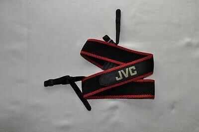 Vintage Jvc Black/Red Shoulder Neck Strap For Slr Camera Used*21**