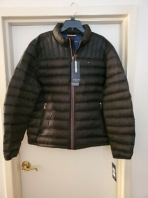 $195 TOMMY HILFIGER Mens Yellow Down Fill Puffer Jacket