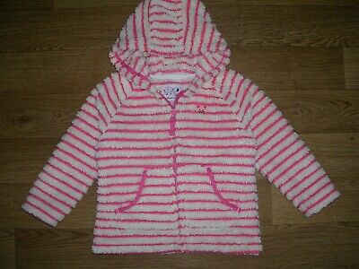 NEXT Girls Pink Cream Fleece  Hooded Jacket Age 3-4 104cm