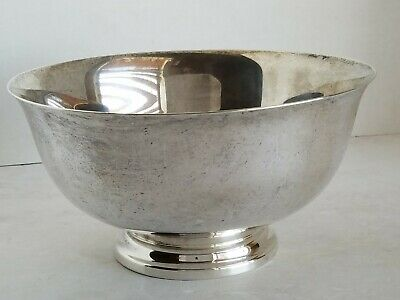Reed & Barton Sterling Silver Paul Revere Reproduction Trophy Bowl 16oz 452.8g