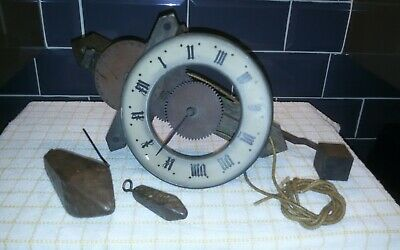 Antique buco wooden wall clock
