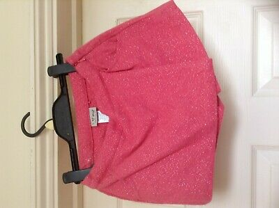 Next Girls Pink Sparkly Shorts Skirt Age 8 Years Never Worn