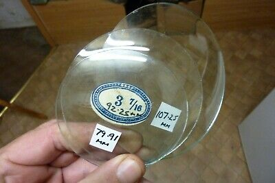 3 Useful Old Small Convex Clock Glasses--(La)