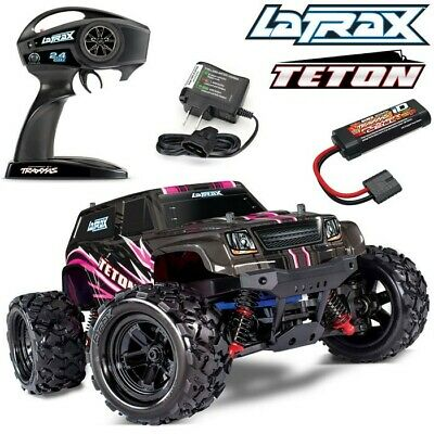 NEW Traxxas LaTrax Teton 1/18 4WD RTR RC Monster Truck PINK w/BATTERY & CHARGER