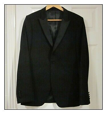 MENS/YOUTHS EVENING DRESS TUXEDO JACKET ONLY BY TOPMAN, SIZE 38in CHEST.
