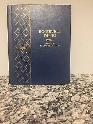 1946 to 1974 Roosevelt Dime Collection a Set 70 Total Dimes W/ Whitman Book