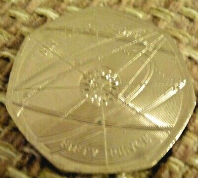 LOW MINTAGE Sir Issac Newton 50p coin *NEW *RARE @@