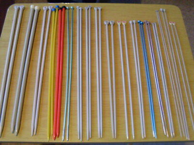 Knitting Needles , 18 Assorted Pairs. Good Condition