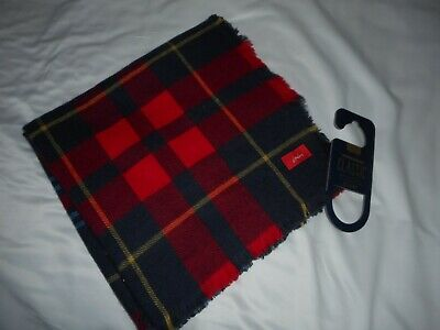 Joules Heyford Navy Check Oversized Square Scarf Rrp £29.95 Bnwt