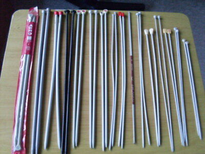 Knitting Needles , 16 Assorted Pairs. Good Condition