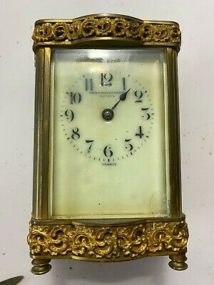 Antique French  Carriage Clock By Duverdrey - Bloquel France Brass Case