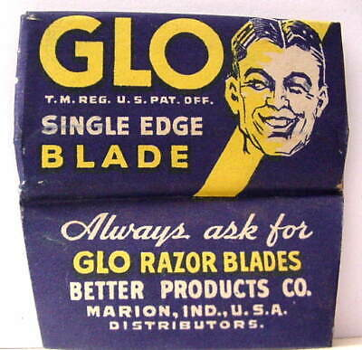 Vintage GLO SINGLE  EDGE Safety Razor Blade  #2