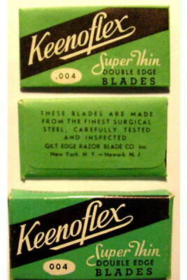 Vintage  KEENOFLEX SUPER THIN   FULL BOX DE  Safety Razor Blades