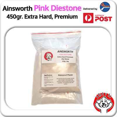 450gr Ainsworth Pink Diestone / Smooth Dental Stone Extra Hard, Waterproof