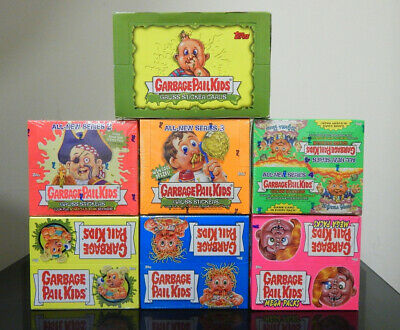 Garbage Pail Kids Sealed Boxes 1-7 Ans - All New Series - Garbage Gang Cards