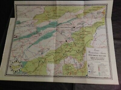 1937 TVA Map Upper Tennessee Valley Cherokee National Forest