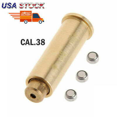 CAL.38 Red Dot Laser Bore Sighter Cartridge Boresighter Sighter For Hunting US