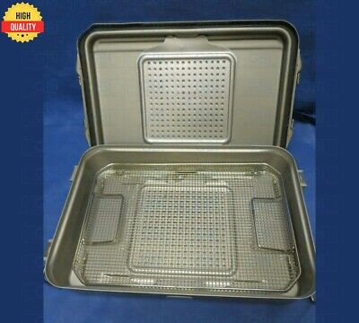 V. Mueller 3/4 Length Sterilization Case Container With Stainless Basket