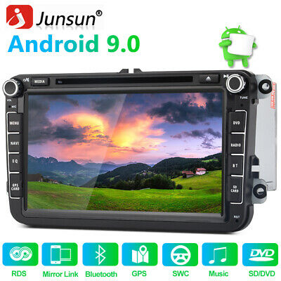 "2DIN 8"" Autoradio Android 9.0 GPS Für VW Golf Passat EOS Touran Jetta FM AM DVD"