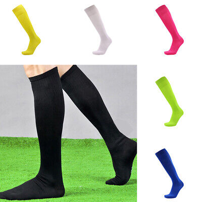 Unisex Football Plain Long Sock Sport High Knee Hockey Soccer Rugby New socks