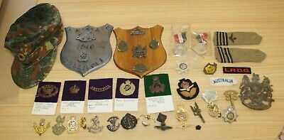 Assorted Army War Medal, Badges, WWI, WWII