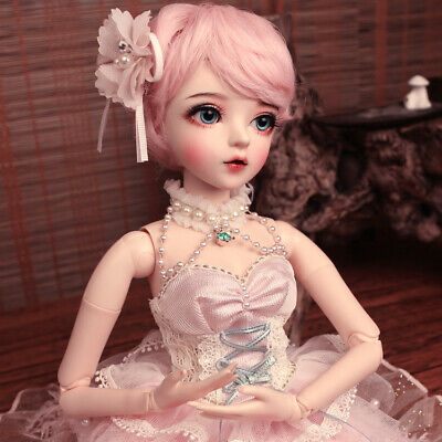 60cm BJD Dolls 1/3 Girl With Full Set Accessories Wigs Eyes Clothes Xmas Gift