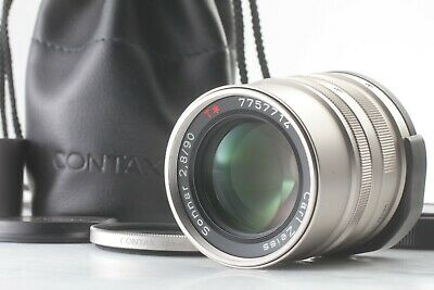 [MINT] Contax Carl Zeiss Sonnar T* 90mm F2.8 G for G1 G2 Lens + GG-3 From JAPAN