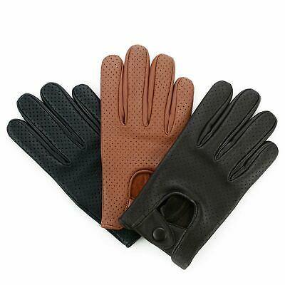 Swift Wears Mens Classic Driving Gloves Soft Genuine Real Lambskin Leather Mesh