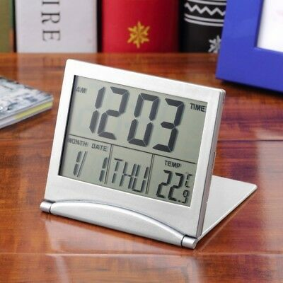 Digital LCD Weather Station Folding Desk Temperature Travel Alarm Clock Nice #EP