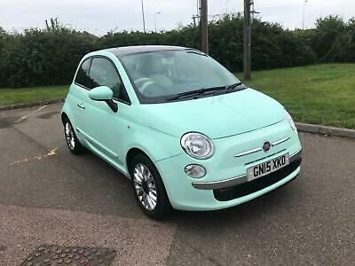 Fiat 500 lounge 1.2 mint green 2015 perfect example new mot 31k miles