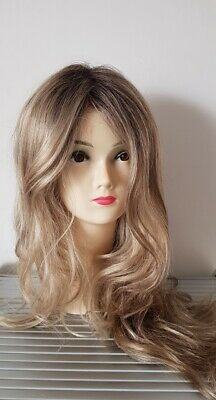 Rene of Paris Rylee Wig, Rose Gold R, Rooted Blonde, Lace Front, Mono Part Long
