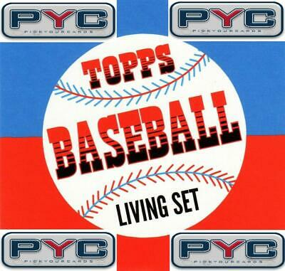 2018-2019 Topps The Living Set Baseball MLB Pick Your Cards/Lot/Finish Set 1-250