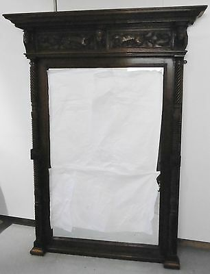 A Large and Finely Carved Victor Emmanuel II Walnut Mirror, Italian circa 1865.
