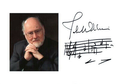 John Williams Hand Signed Autograph With Star Wars Music Quotation Rare!