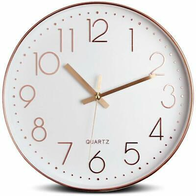 12 Inch Silent Modern Wall Clock Battery Operated Decorative Home Wall Clocks