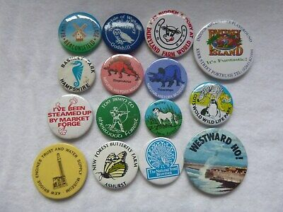 Places Of Interest Various Assorted Badges Job Lot/Collection/Bundle