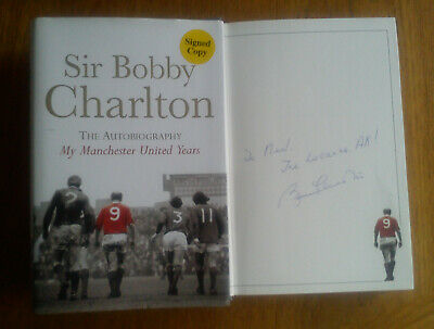 BOBBY CHARLTON SIGNED Autobiography My Manchester United Years HB DJ