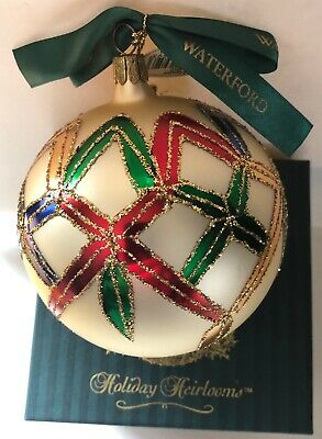 Vintage Waterford Crystal Holiday Heirlooms Ornament ~ Lismore Ball